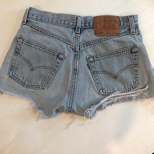 Levi's Shorts - Levi's 501 Destroyed Shorts